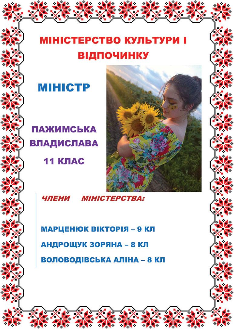 Міністр Пажимська В.